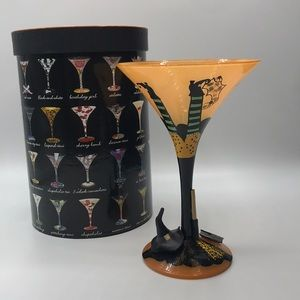 NIB Lolita Wicked Witch Halloween Martini Glass